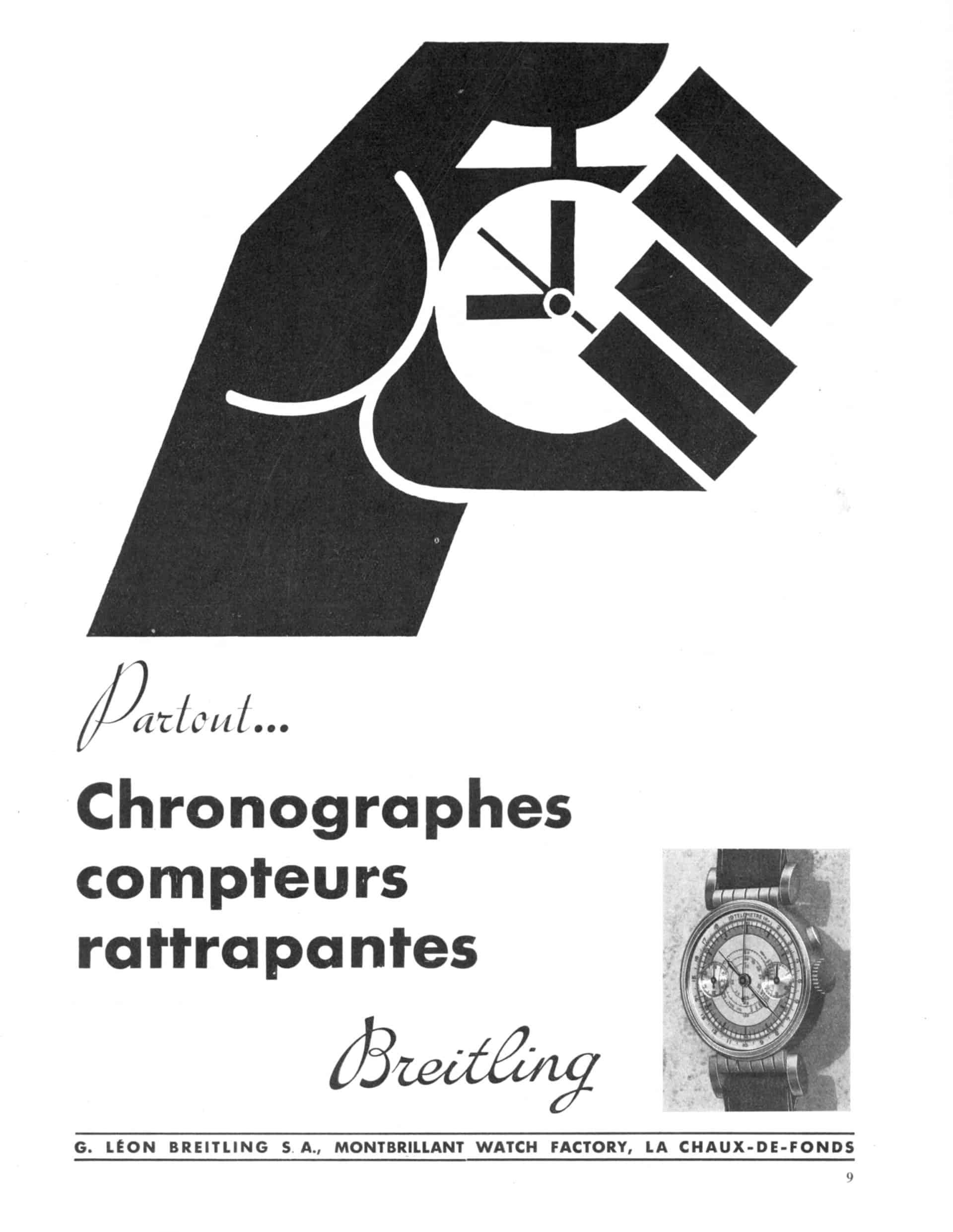 Historisches Anzeigenmotiv Breitling 30er Jahre