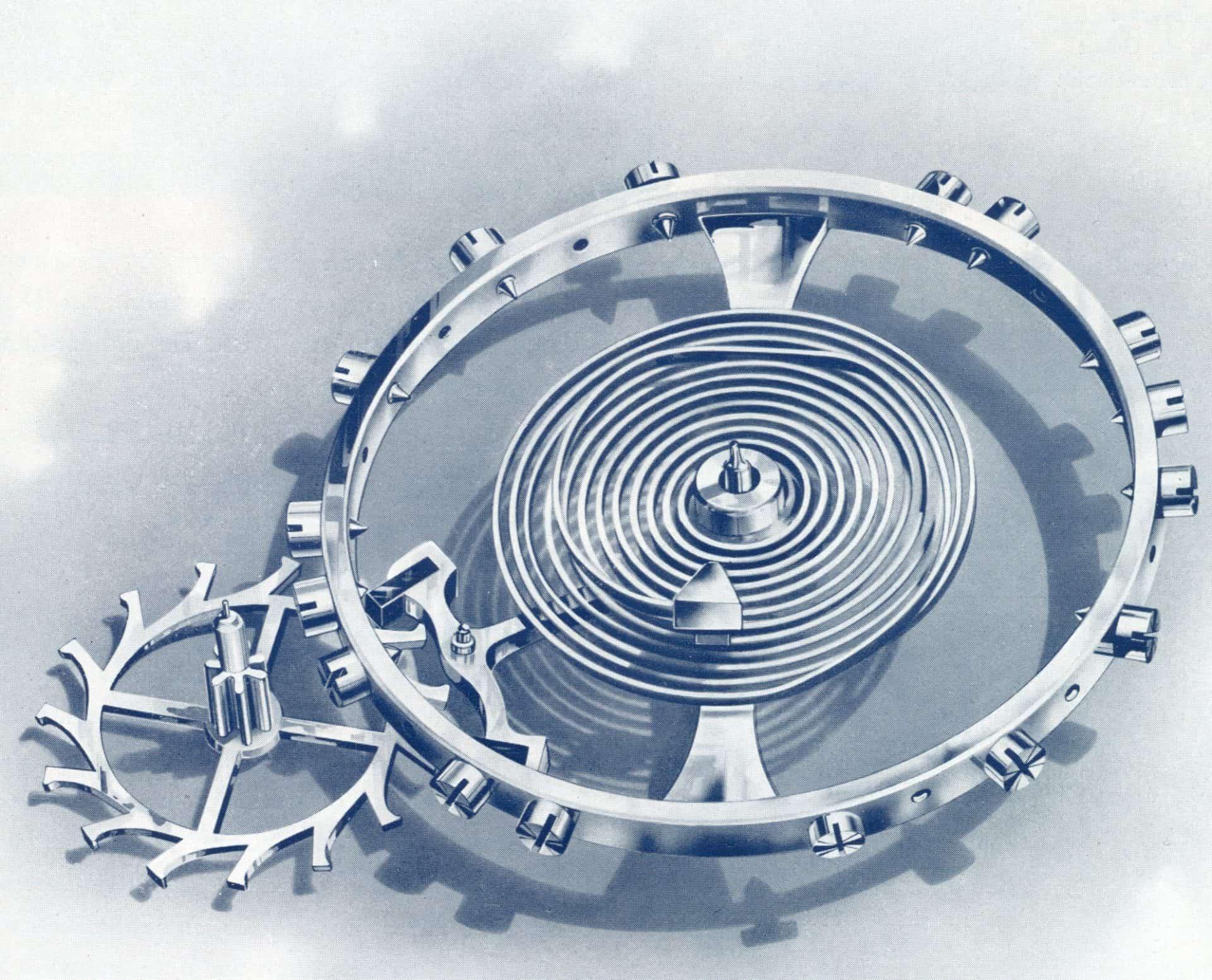 Unruh und Unruhspirale der Ankerhemmung