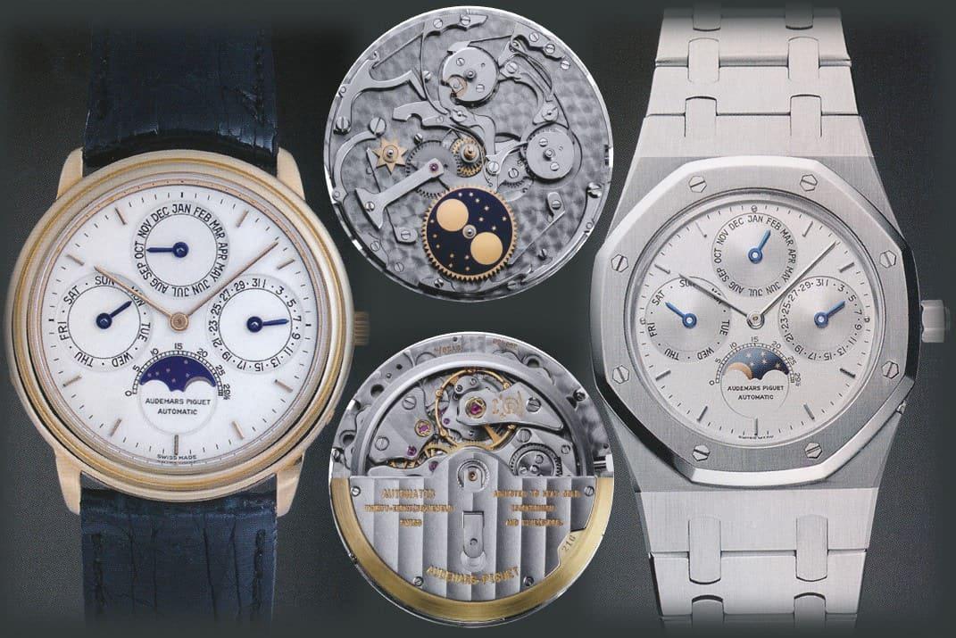 Audemars Piguet Perpetual Calendar ultraflach Automatik Kaliber 2120 2800 Ref 5558 und Royal Oak Ref 25554