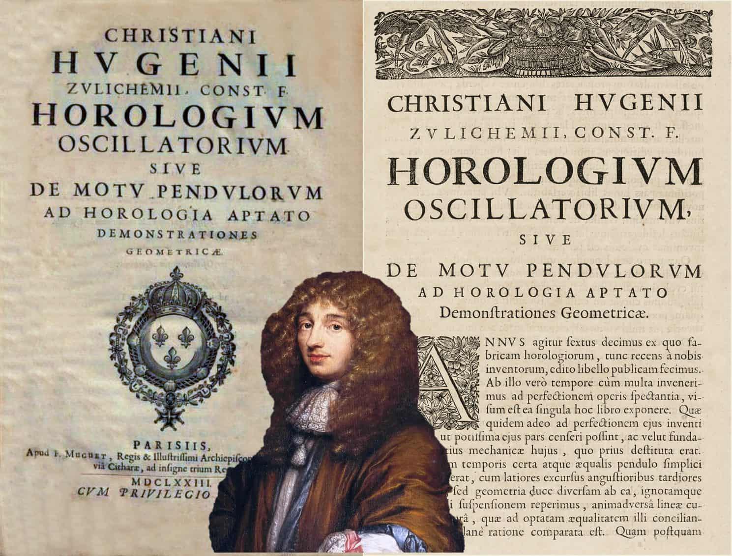 Originalschrift des Horologium Oscillatorium von Christiaan Huygens