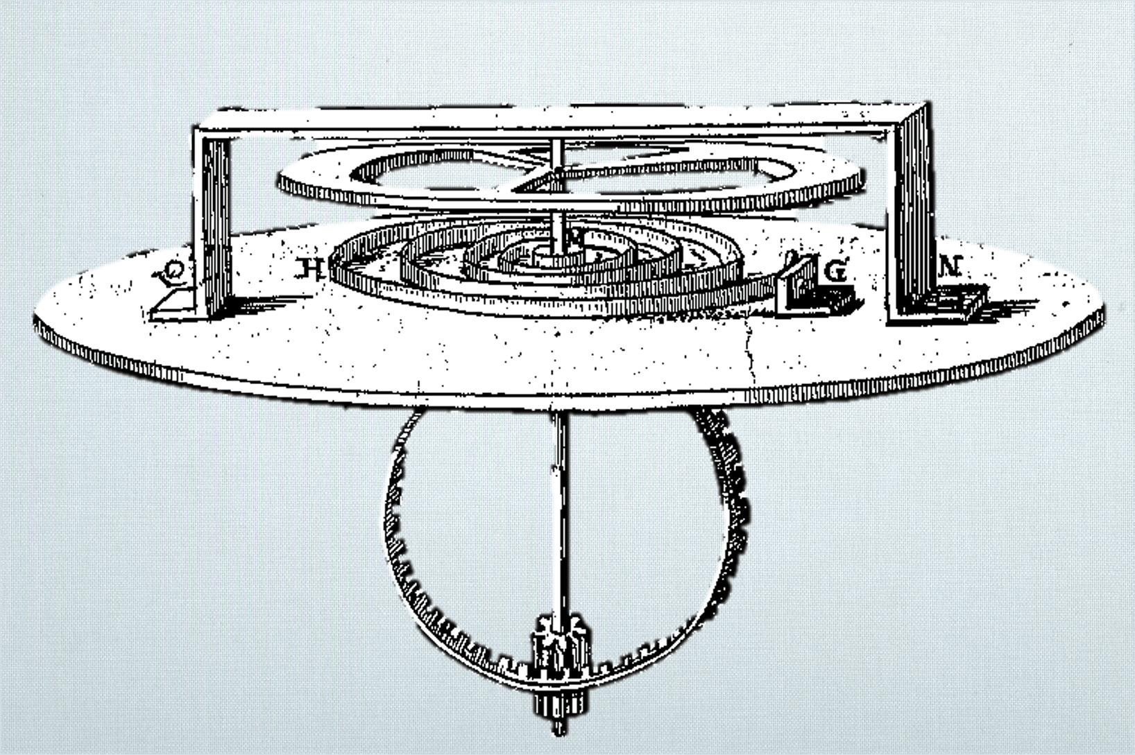 Christiaan Huygens erster Unruhschwinger von 1675
