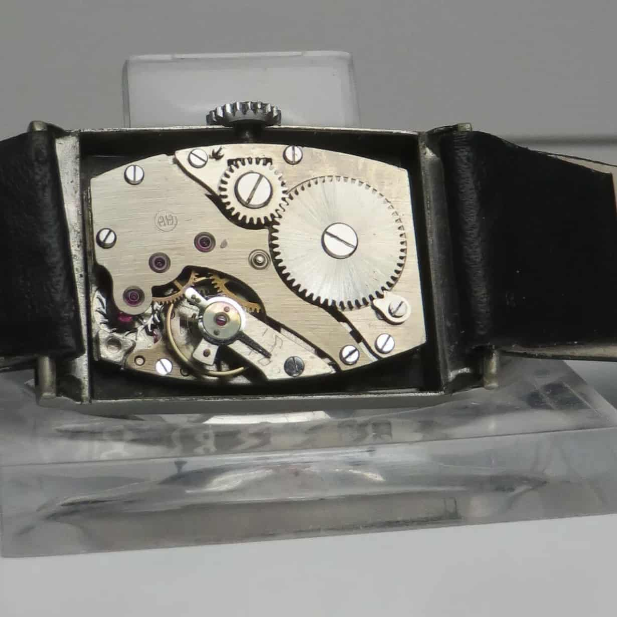 Hanhart-Armbanduhr-rechteckig-1930-er-Jahre-Kaliber-36-(C)-Uhrenkosmos