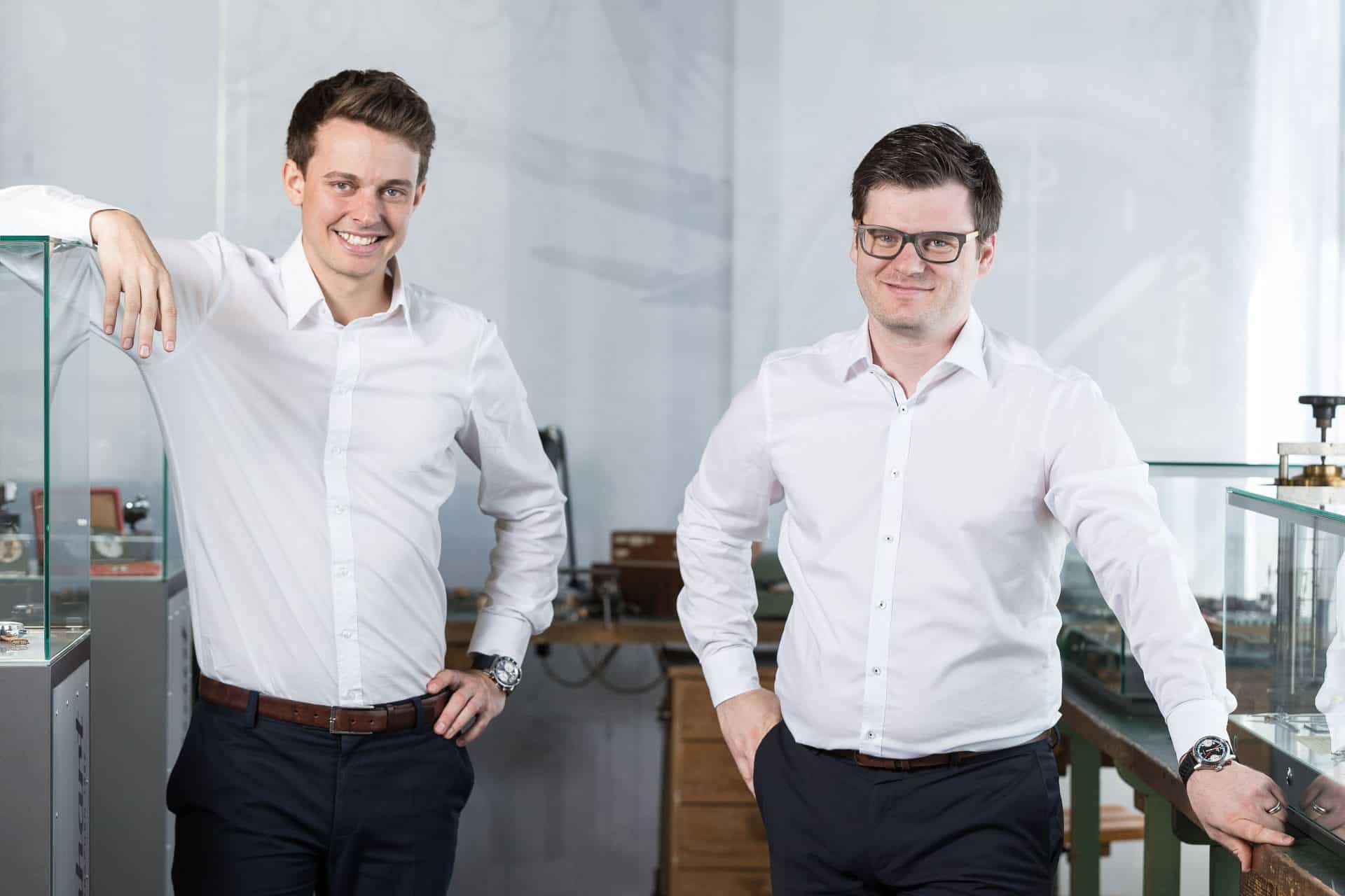 Hanhart Uhrenmarke und ihre Verantwortlichen Felix Wallner (links) und Simon Hall