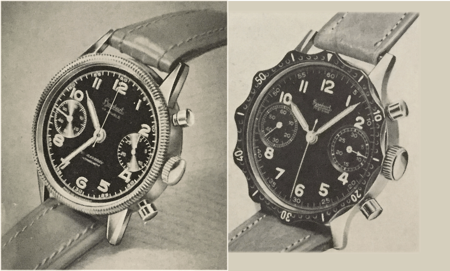 Hanhart Chronographen Modelle 417ES und 418 ES