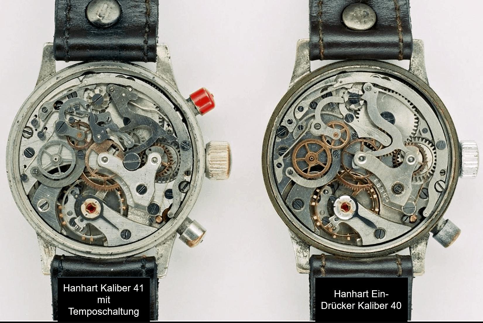 Hanhart Chronographenkaliber 41 vs. Hanhart 40