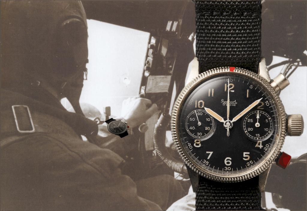 Hanhart Flieger-Chronographen Kaliber 41 (C) Uhrenkosmos