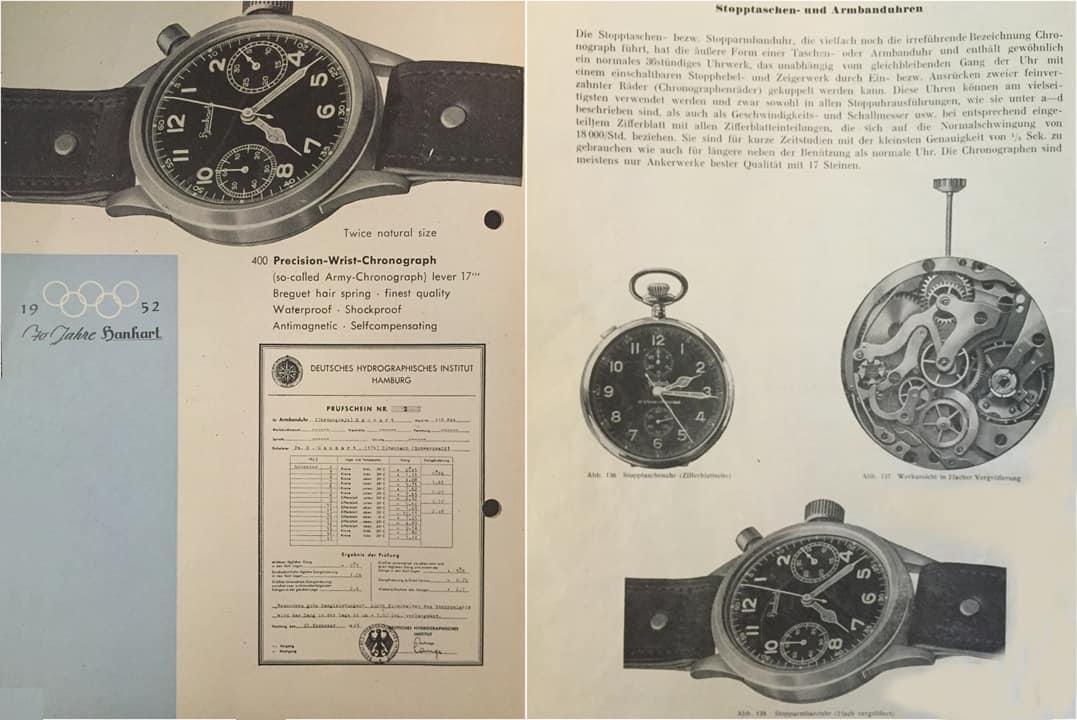 Historische Hanhart Stoppuhren und Chronographen