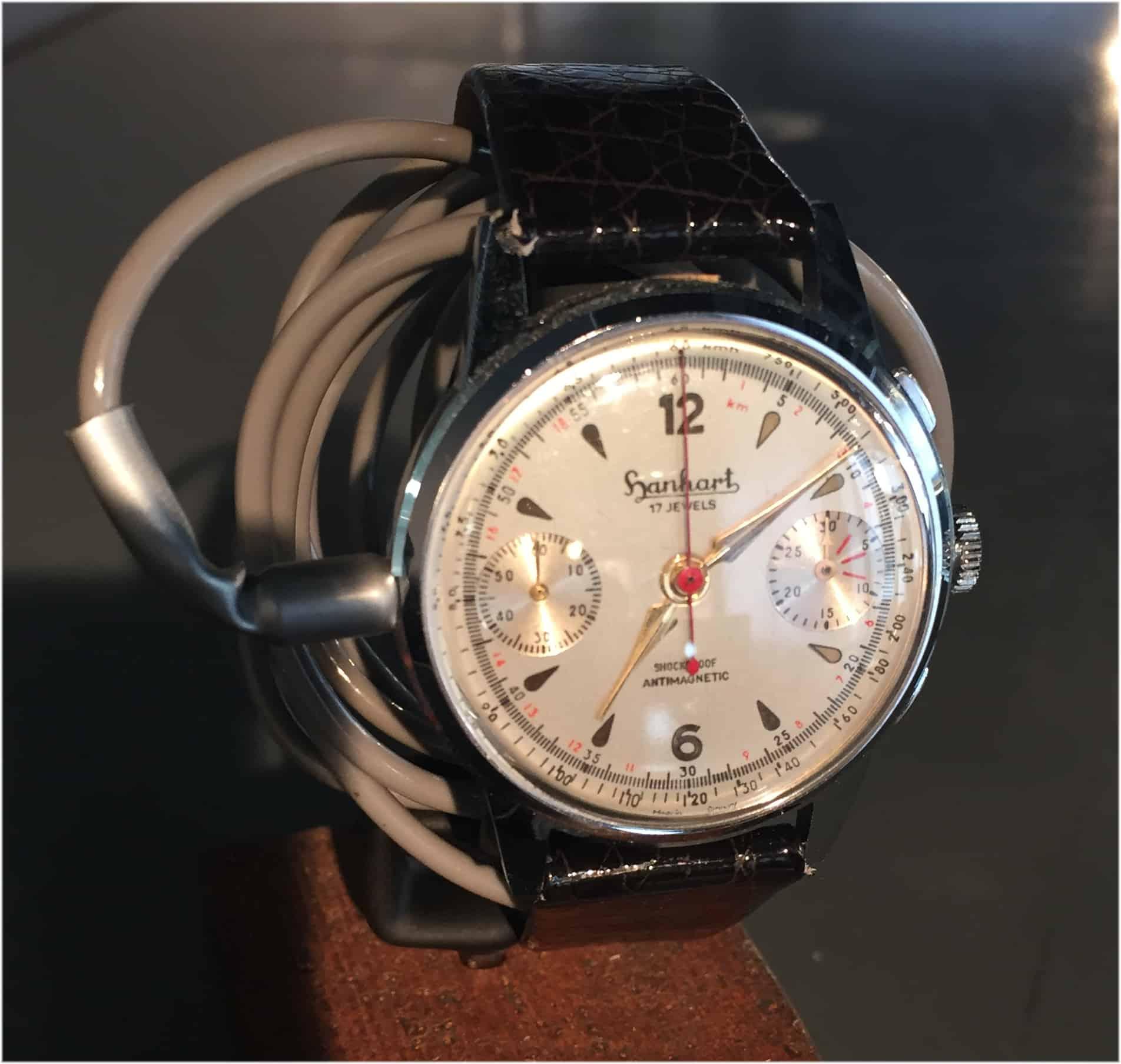 Hanhart Spionage Chronograph mit eingebautem Mikrophon Foto C Uhrenkosmos
