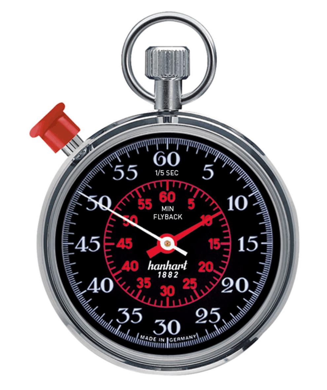Hanhart Taschen-Stoppuhr Mega Minute mit Flyback Funktion