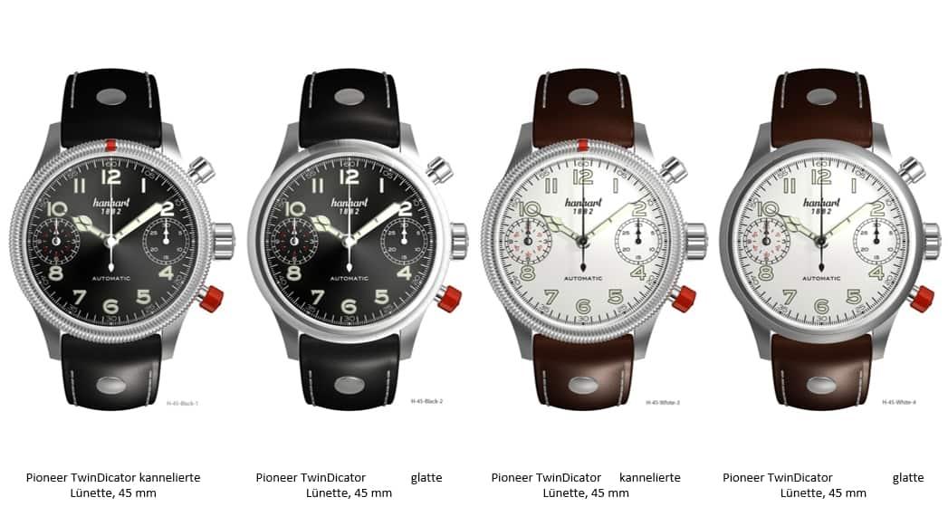 Hanhart Chronographen der Pioneer TwinDicator Linie