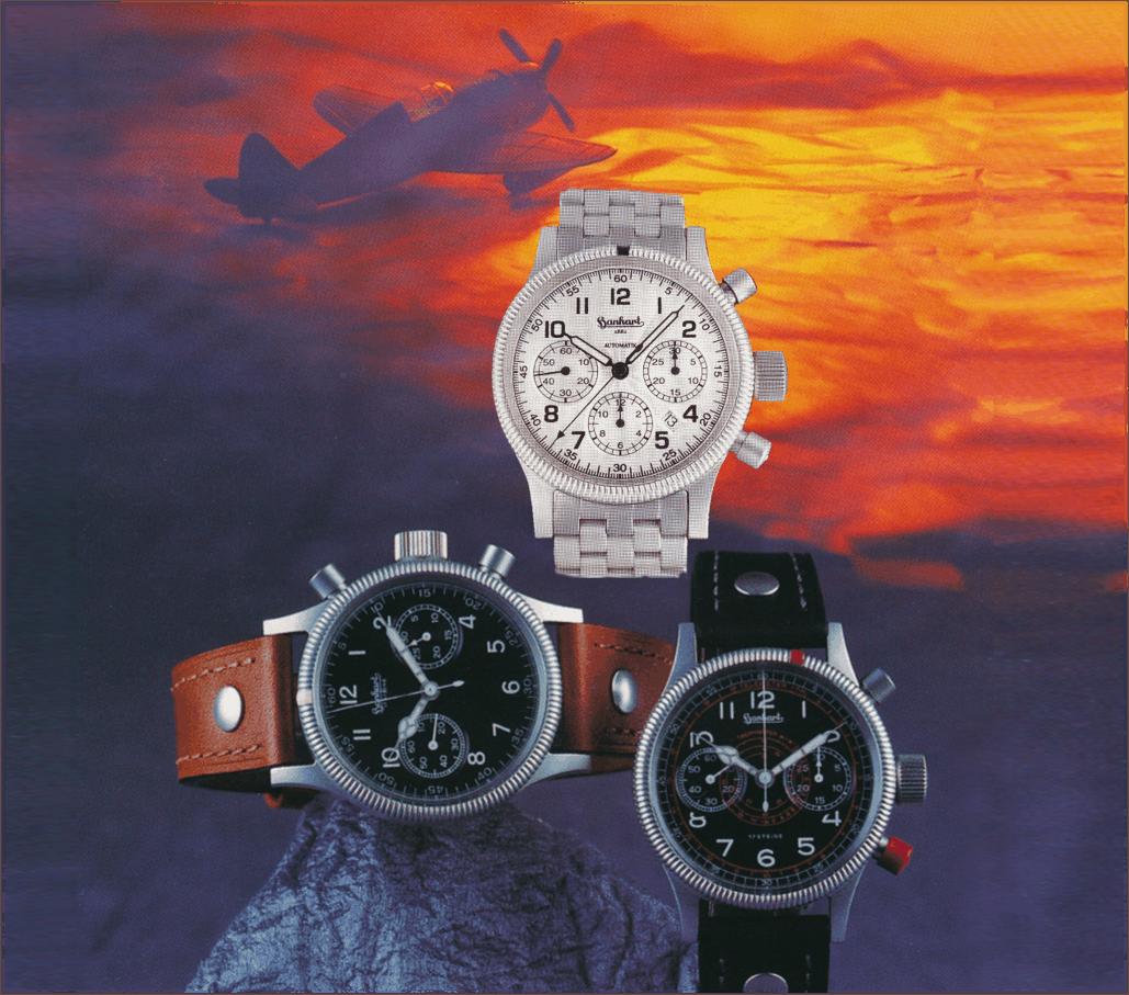 Uhrenmarke Hanhart - mit Replika Modellen Admiral Fliegerchrongoraph und Tachy-Tele
