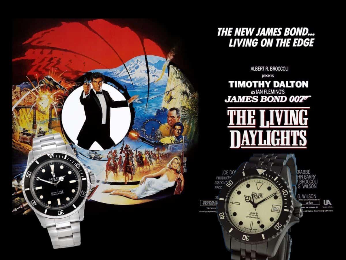 James Bond Uhren Der Hauch des Todes 1987 Heuer Night Diver