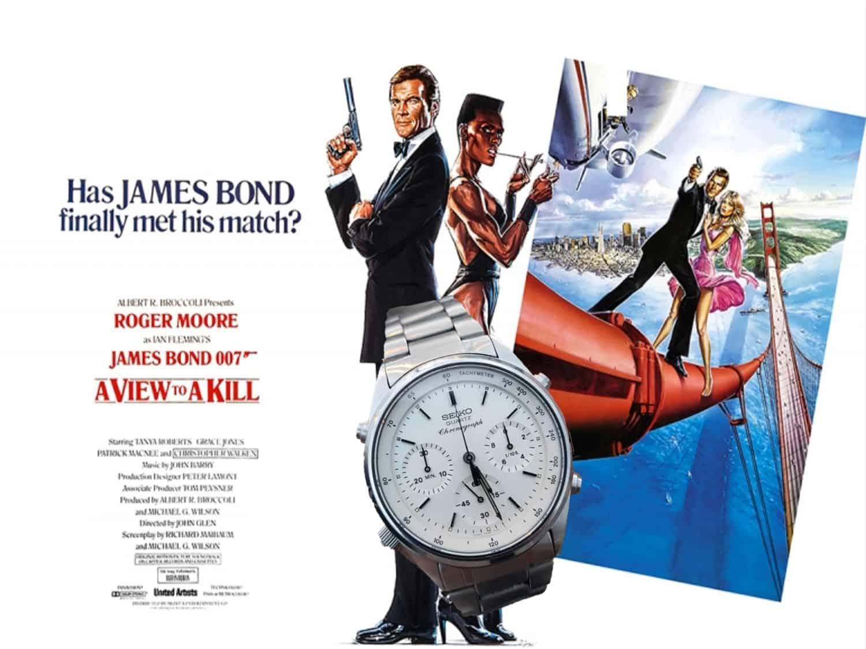 Seiko Chronograph James Bond Uhr Im Angesicht des Todes