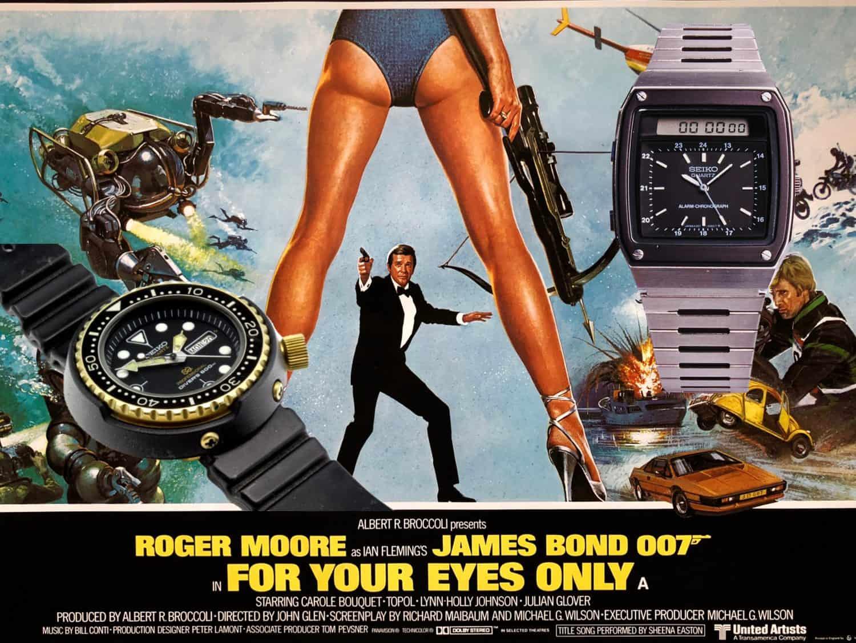 Seiko James Bond Uhren In tödlicher Mission 1981