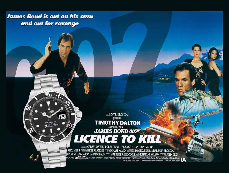 James Bond Uhren Lizenz zum Töten 1989 Rolex Submariner
