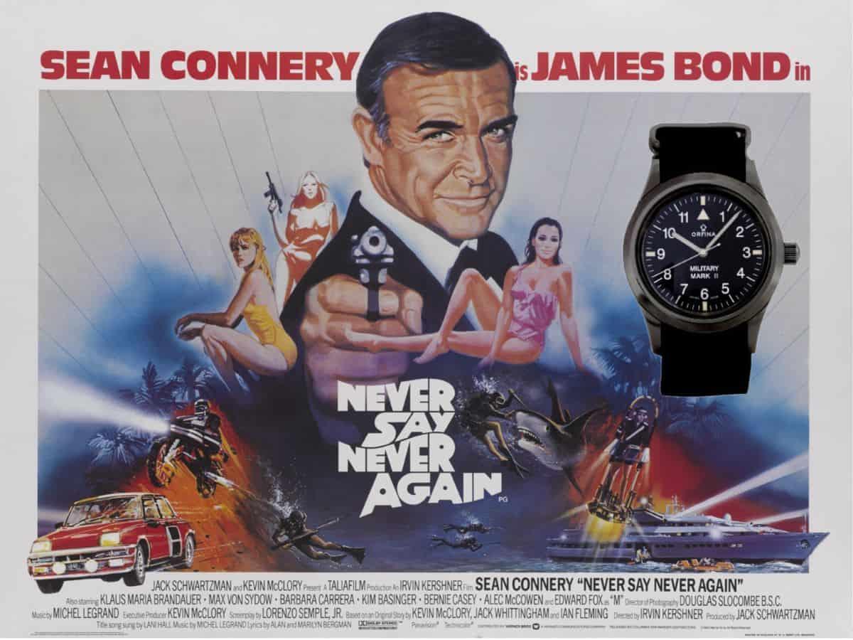 James Bond Uhren Sag niemals nie Orfina Uhr 1983
