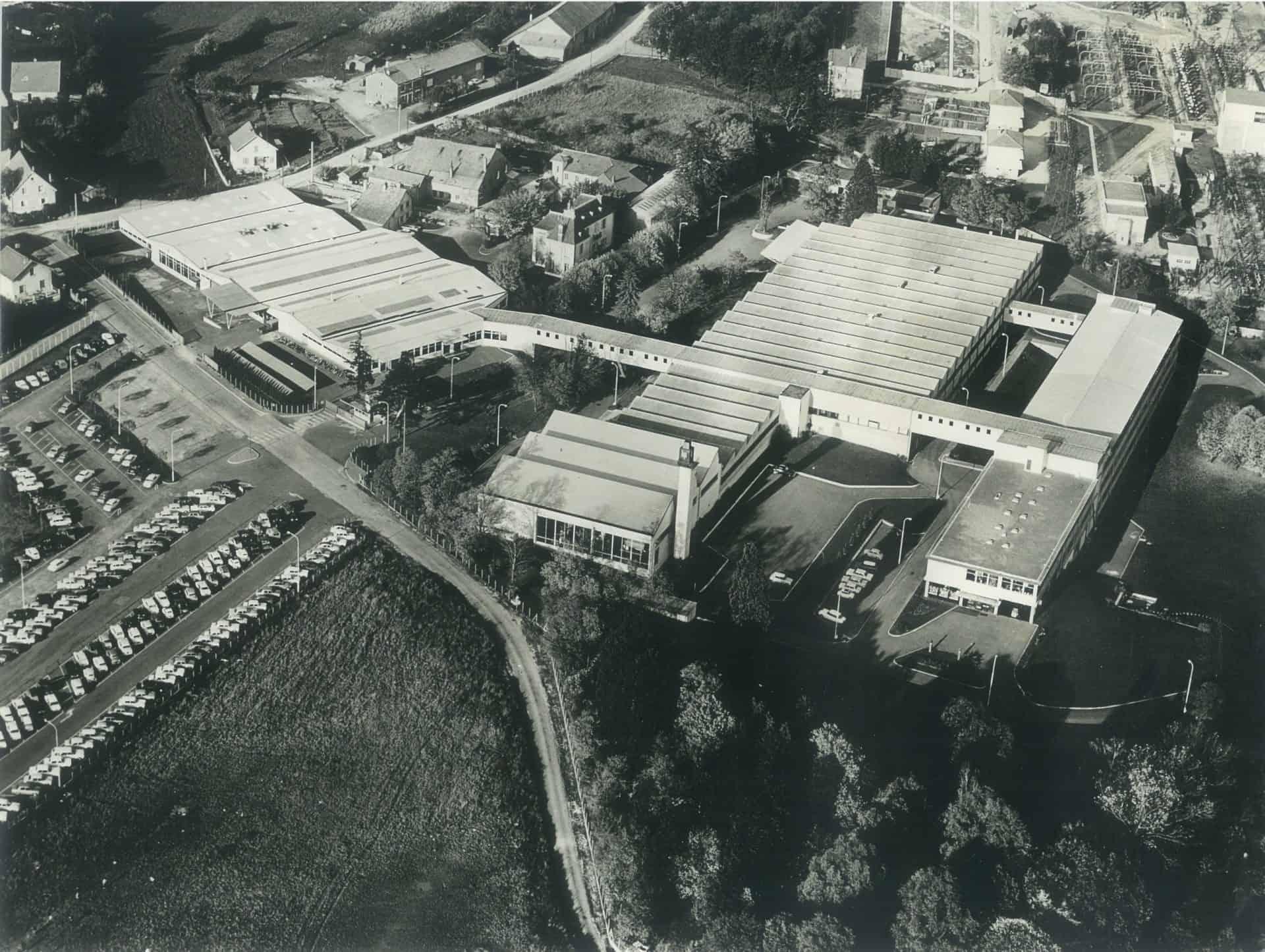 Lip Fabrikgelände in Besancon im Jahr 1967