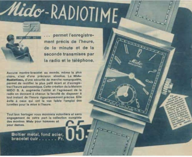 Mido Radiotime Anzeige