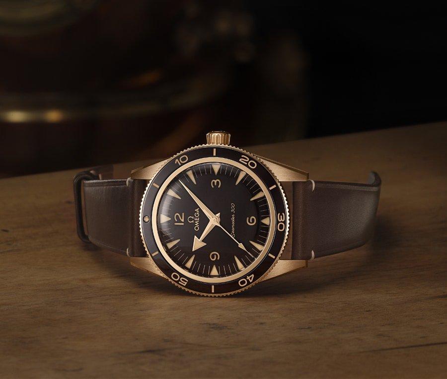 Vintage Look Omega Seamaster 300 Bronze Gold