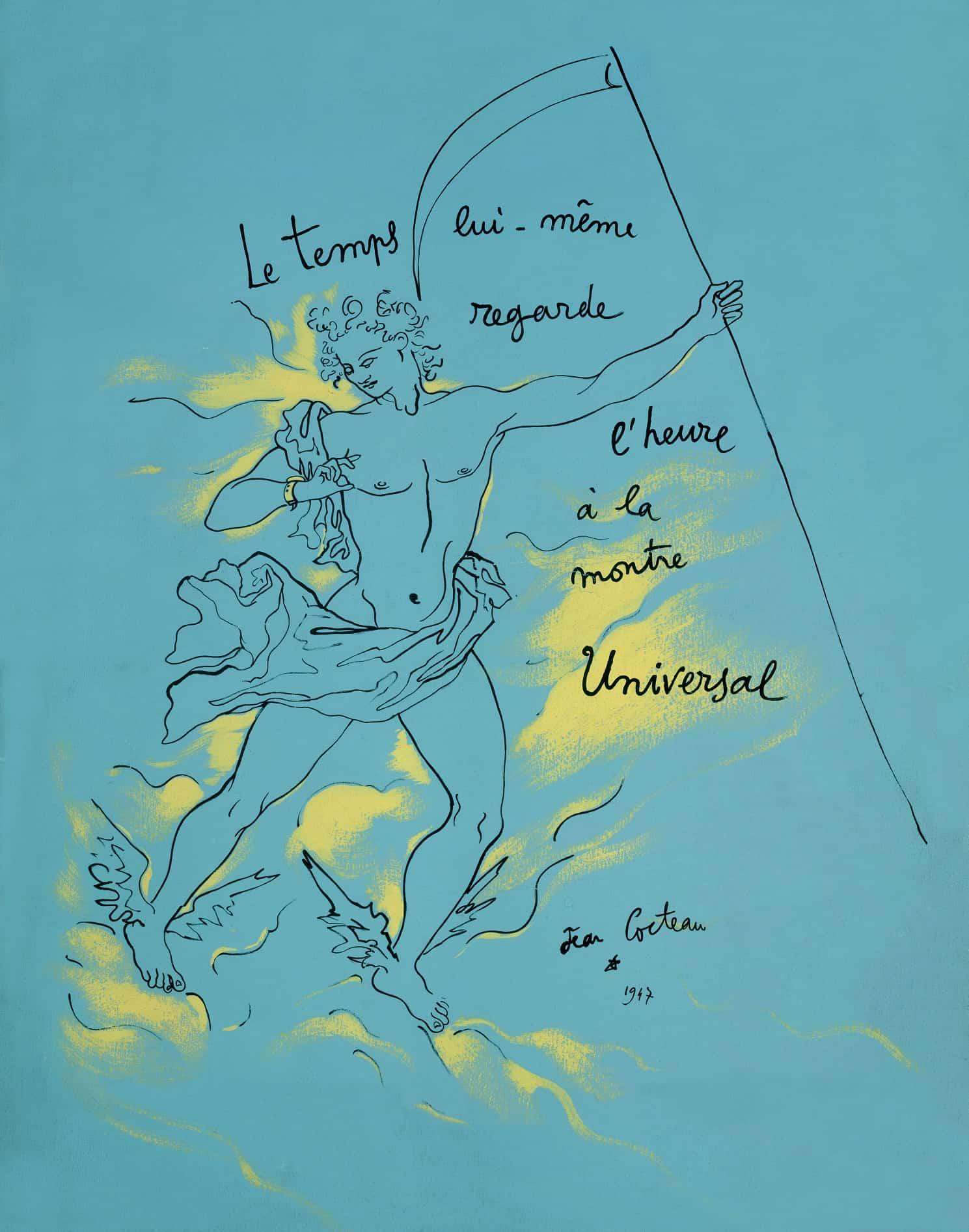 Historisches Werbemotiv von 1917 für Universal Künstler Jean Cocteau Poster