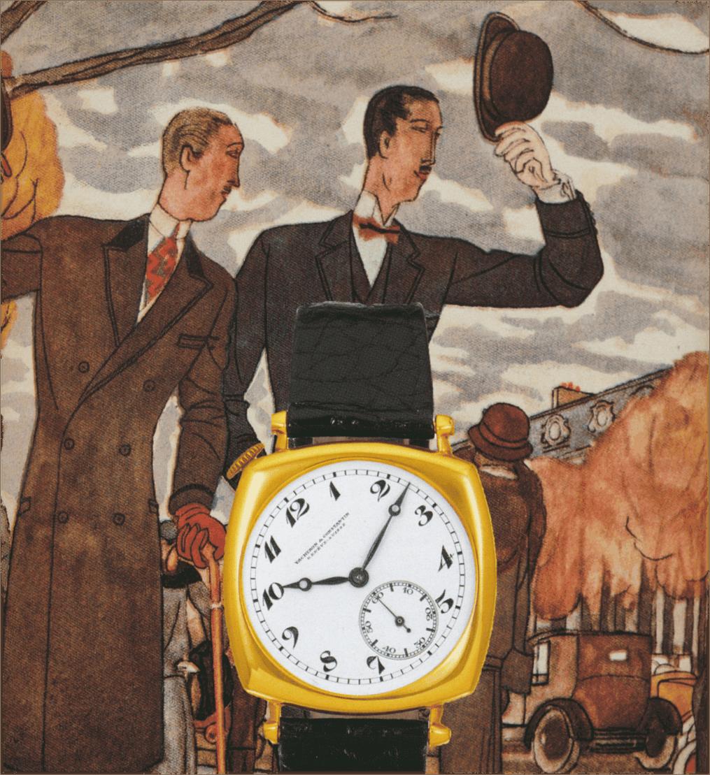 Anzeigenmotiv für die Vacheron Constantin American von 1921 - Linkshänderversion (C) Uhrenkosmos