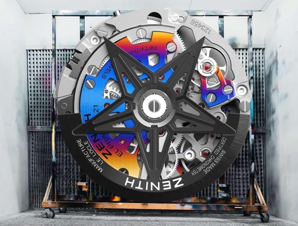Farbiges Lichtspiel - das  Zenith Kaliber 9004 x Felipe Pantone