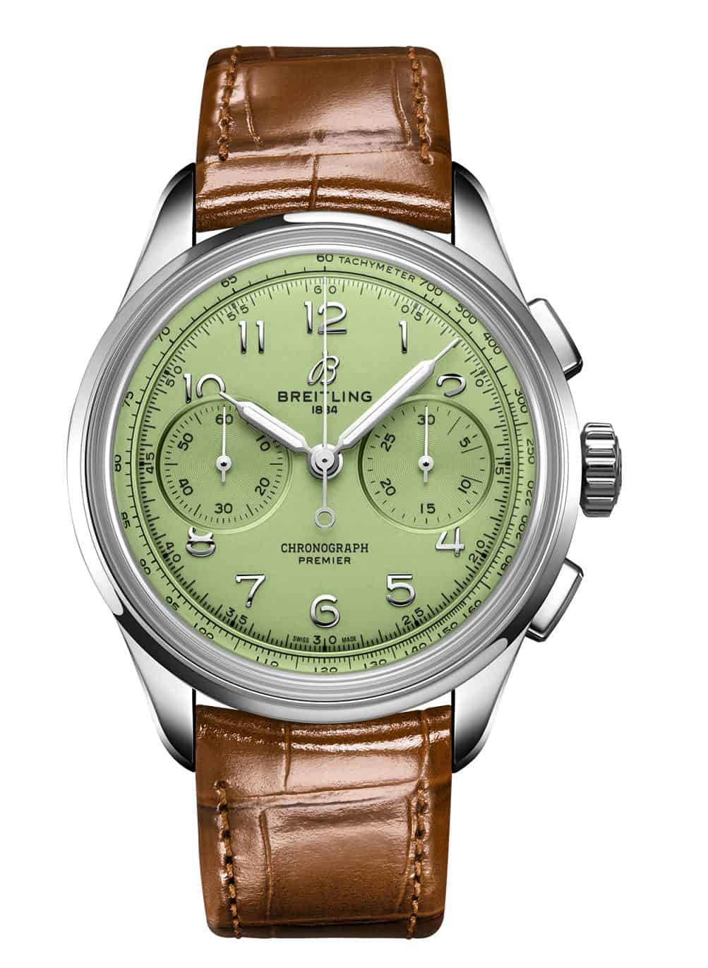 Breitling Premier B09 Chronograph mit grünzem Zifferblatt
