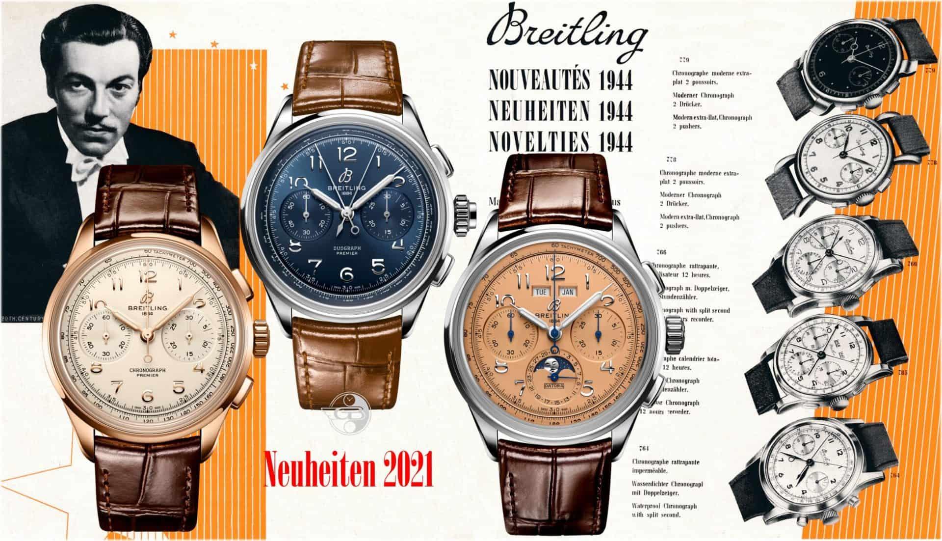 Neue Breitling ChronographenBreitling Premier Heritage Chronographen: zurück in die Zukunft