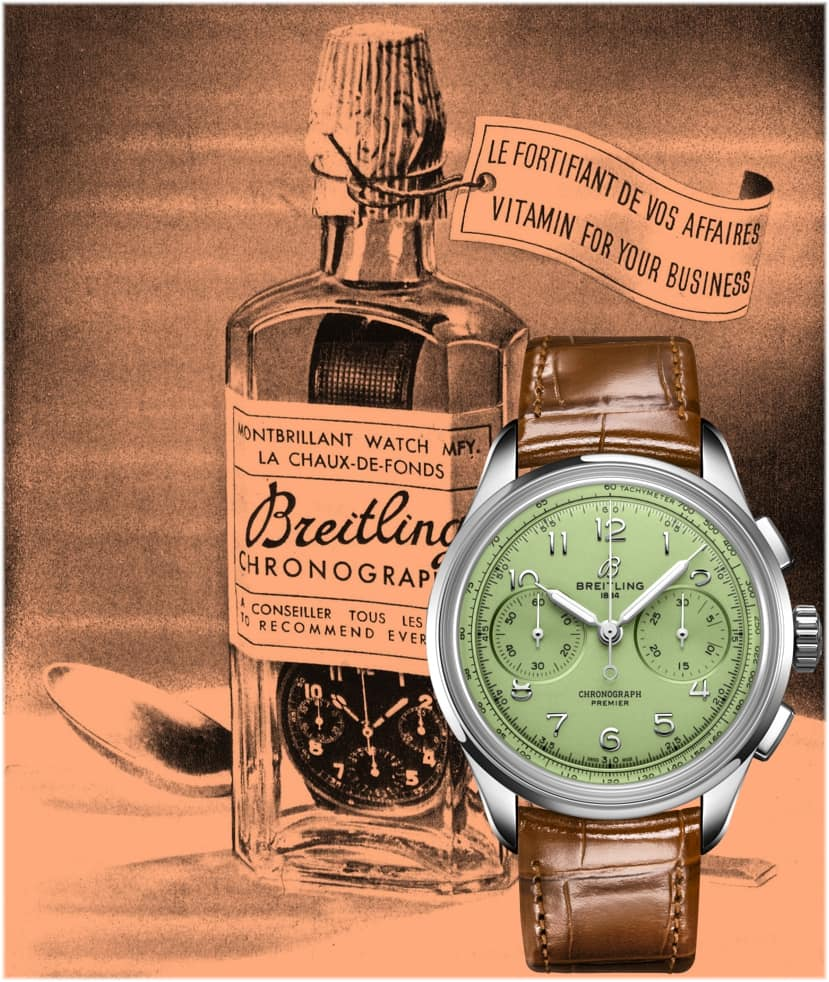 Breitling Premier Heritage B09 Chronograph 40 , Handaufzugskaliber B09