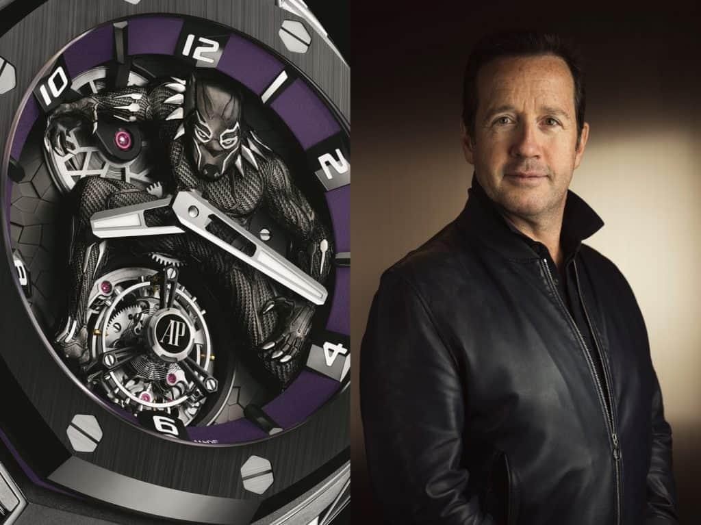 Francois Henry Bennahmias CEO Audemars Piguet mit Royal Oak Concept Black Panther