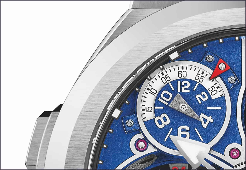 Greubel Forsey GMT Sport im Detail mit der GMT- und Sekundenindikation
