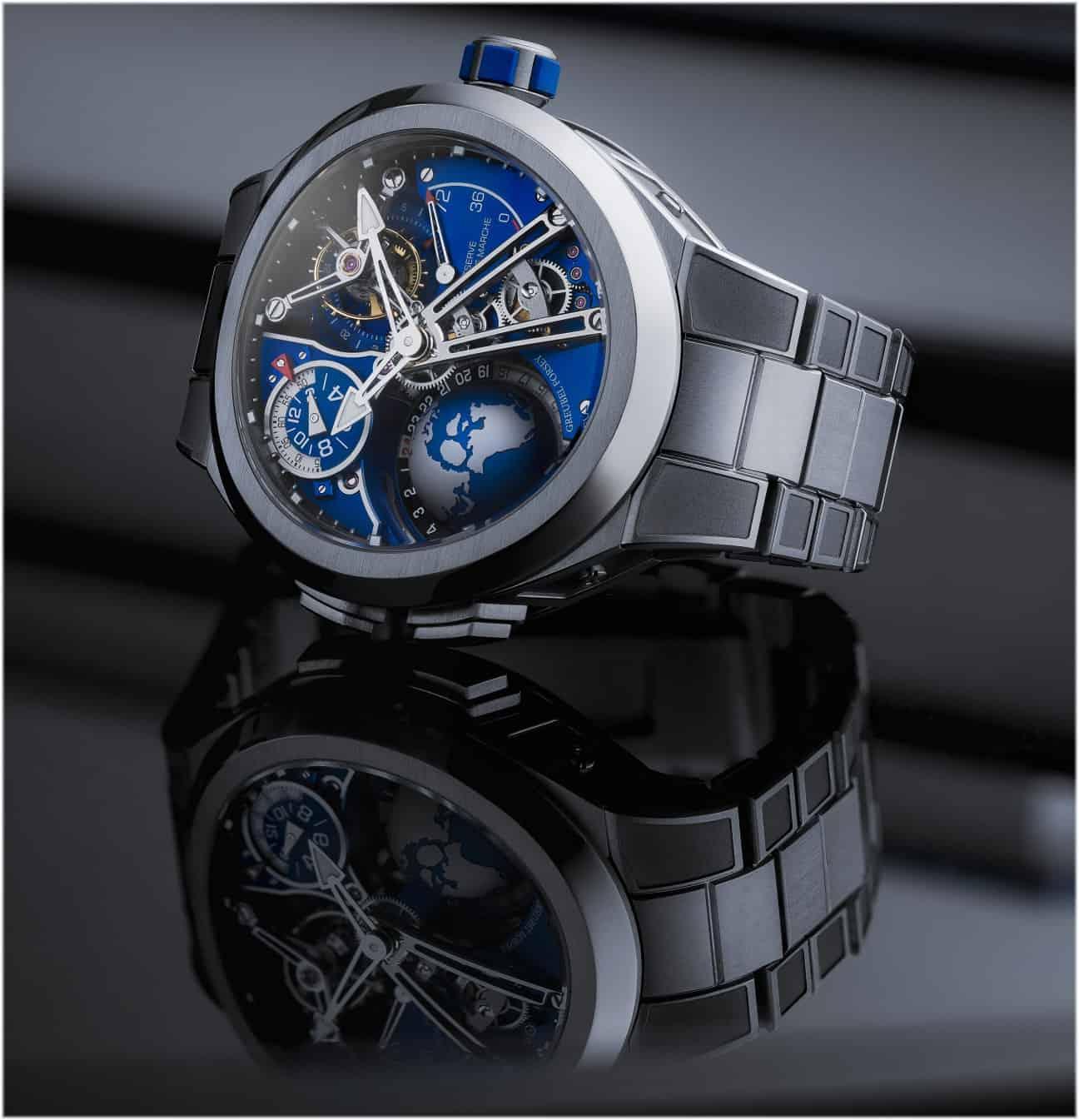 Version der Greubel Forsey GMT Sport mit Titanband für 564.000 Euro