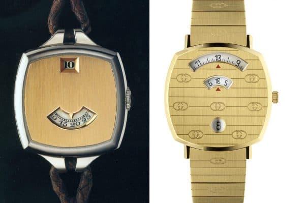 Diese Gucci Grip Uhren kommen im Retrostyle