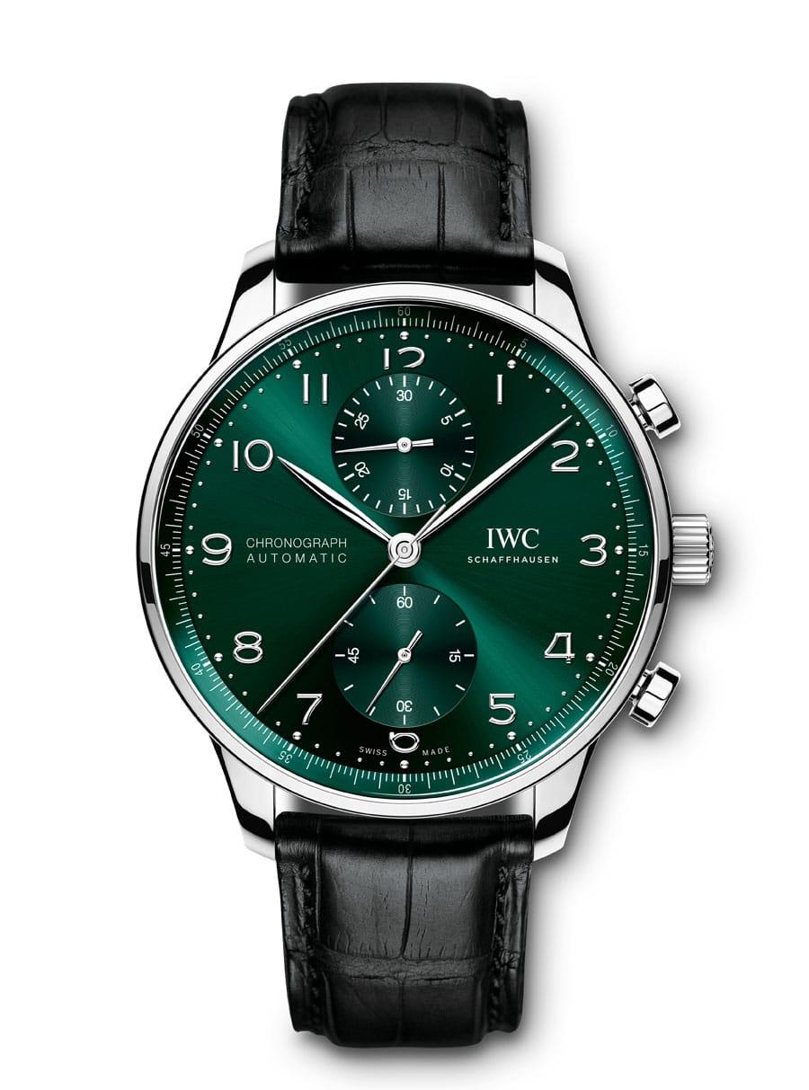 IWC Portugieser Chronograph Ref 371615 in Grün 2021