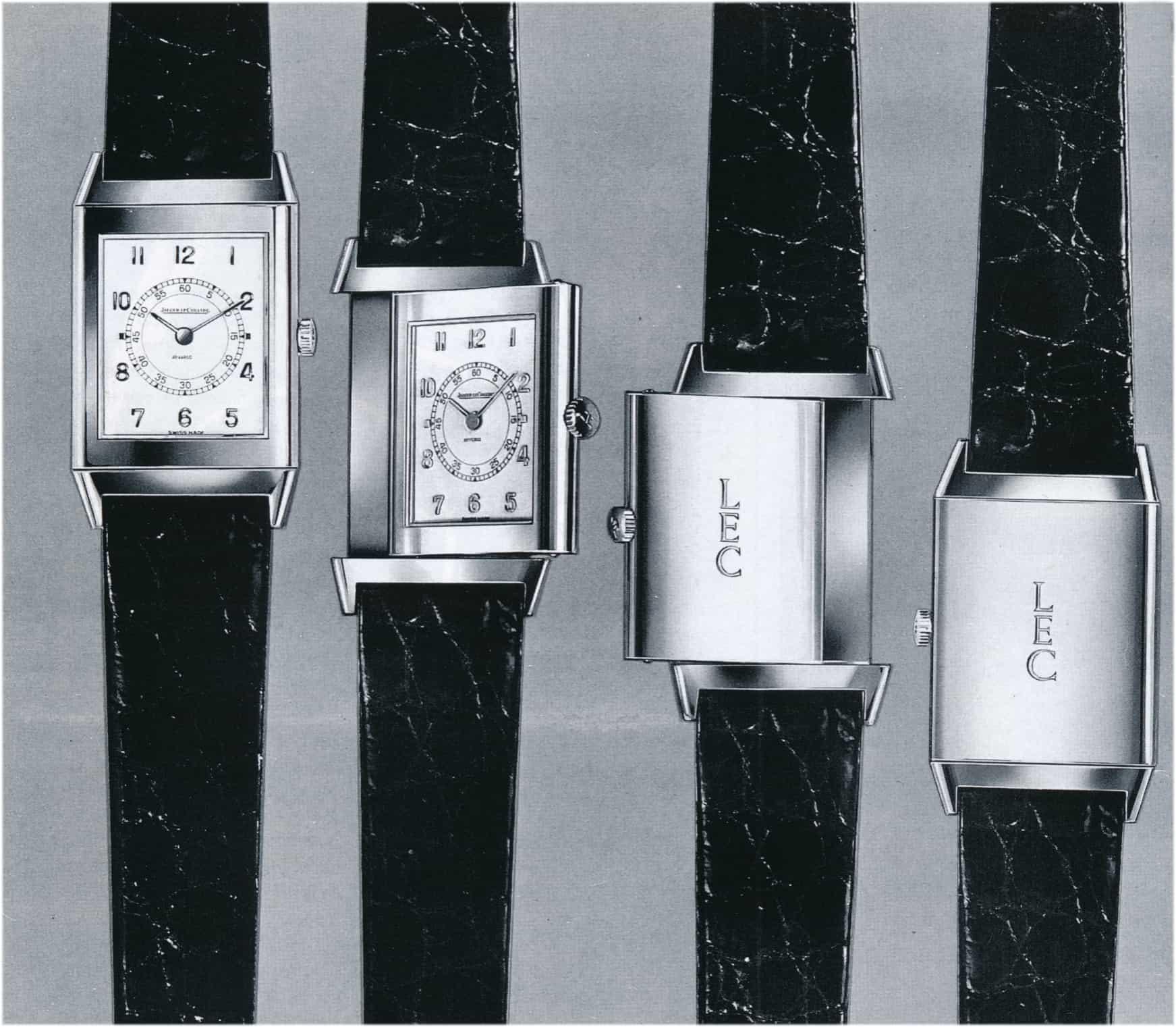 Jaeger LeCoultre Reverso Revival Modell 18 Karat Uhrenmesse Basel 1979