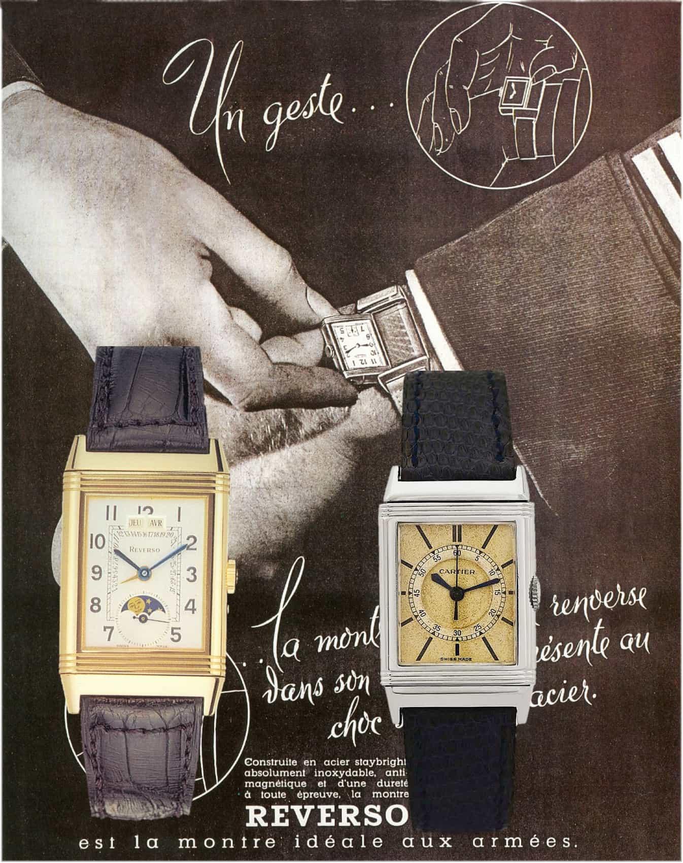 Jaeger LeCoultre Reverso calendrier retrograde und Cartier Reverso Zentralsekunde