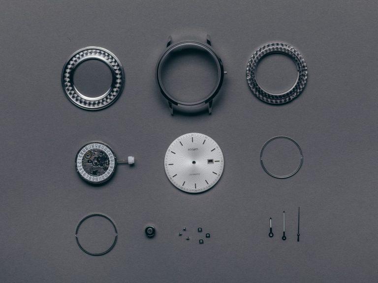 Komponenten vor dem Zusammenbau