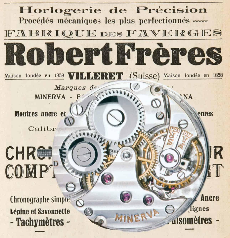 Minerva Handaufzugskaliber 10 Linien 1909 (C)-Uhrenkosmos