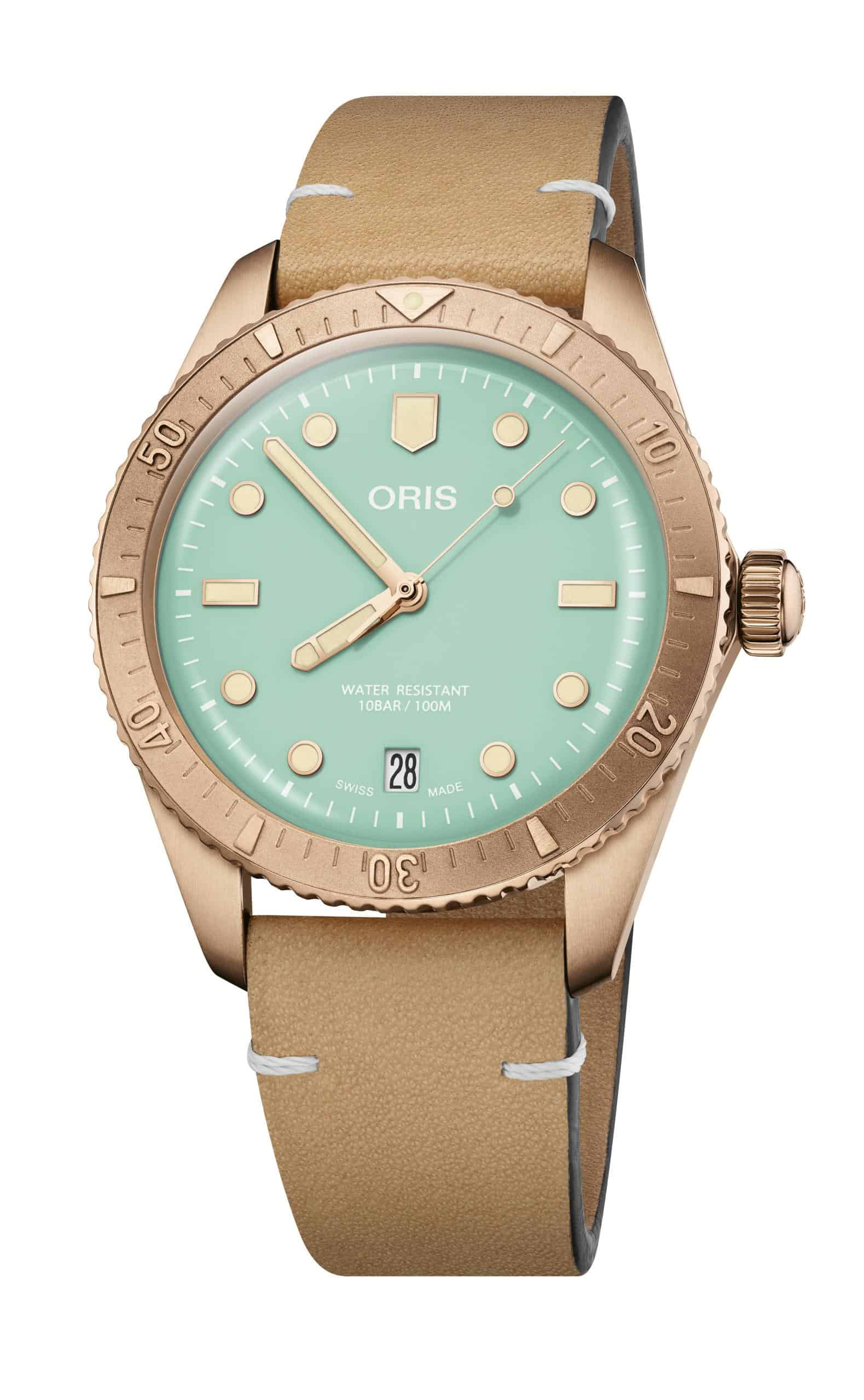 Oris Divers Sixty Five Cotton Candy Mint-grünes Zifferblatt