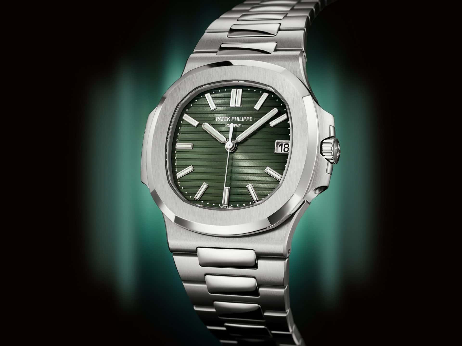 Watches and Wonders Genf 2021Letzte Patek Philippe Nautilus 5711 in Stahl kommt mit grünem Zifferblatt