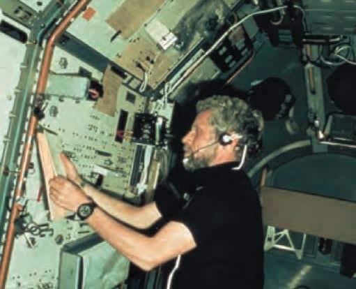 Reinhard Furrer 1985 mit Sinn 140S