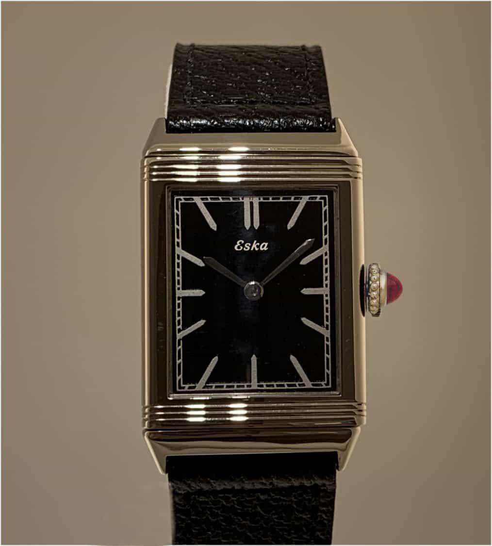 Eska Reverso mit Handaufzugswerk der Schweizer Uhrenfabrik S. Kocher