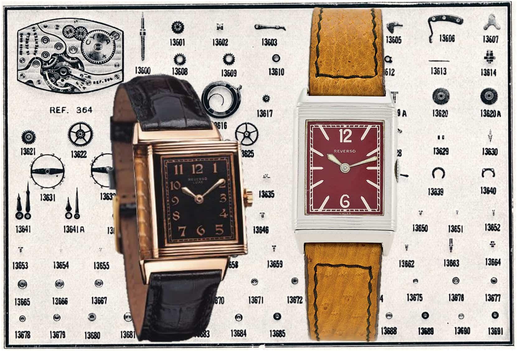 In Reverso Armbanduhren für die Herren tickte das Kaliber 64 (364) der Fabriques des Montres Tavannes & Cyma
