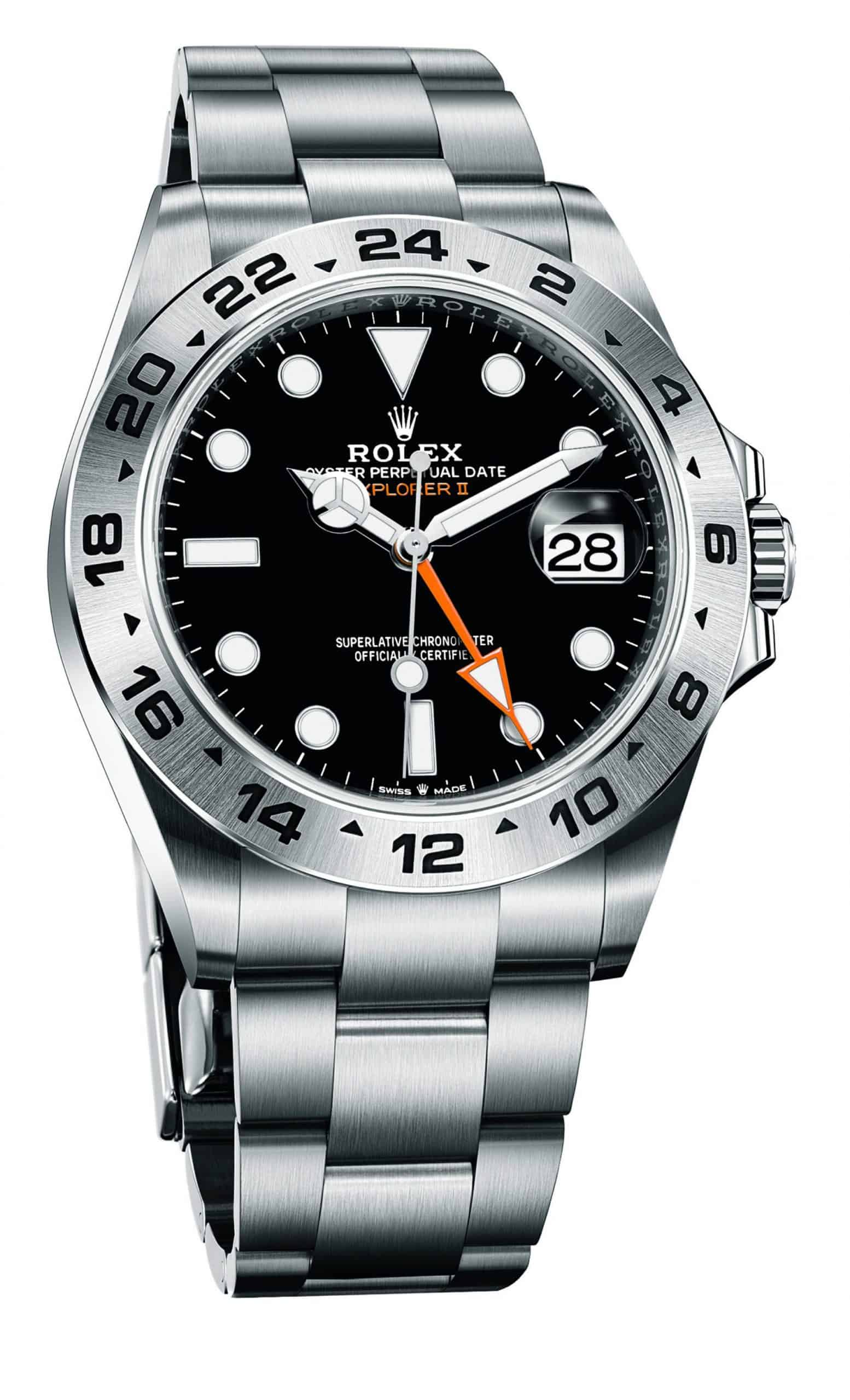 schwarzes Zifferblatt Rolex Explorer 2 226570 - 0001