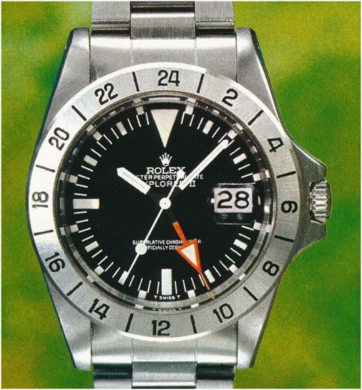 Rolex Explorer II Referenz 1655/0 mit modifiziertem Sekundenzeiger aus dem Jahr 1978
