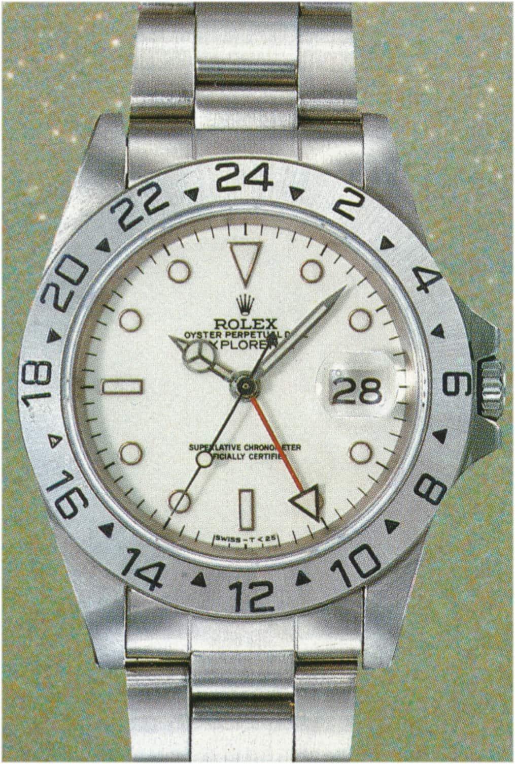 Rolex Explorer II Referenz 16550 Tritium Zifferblatt