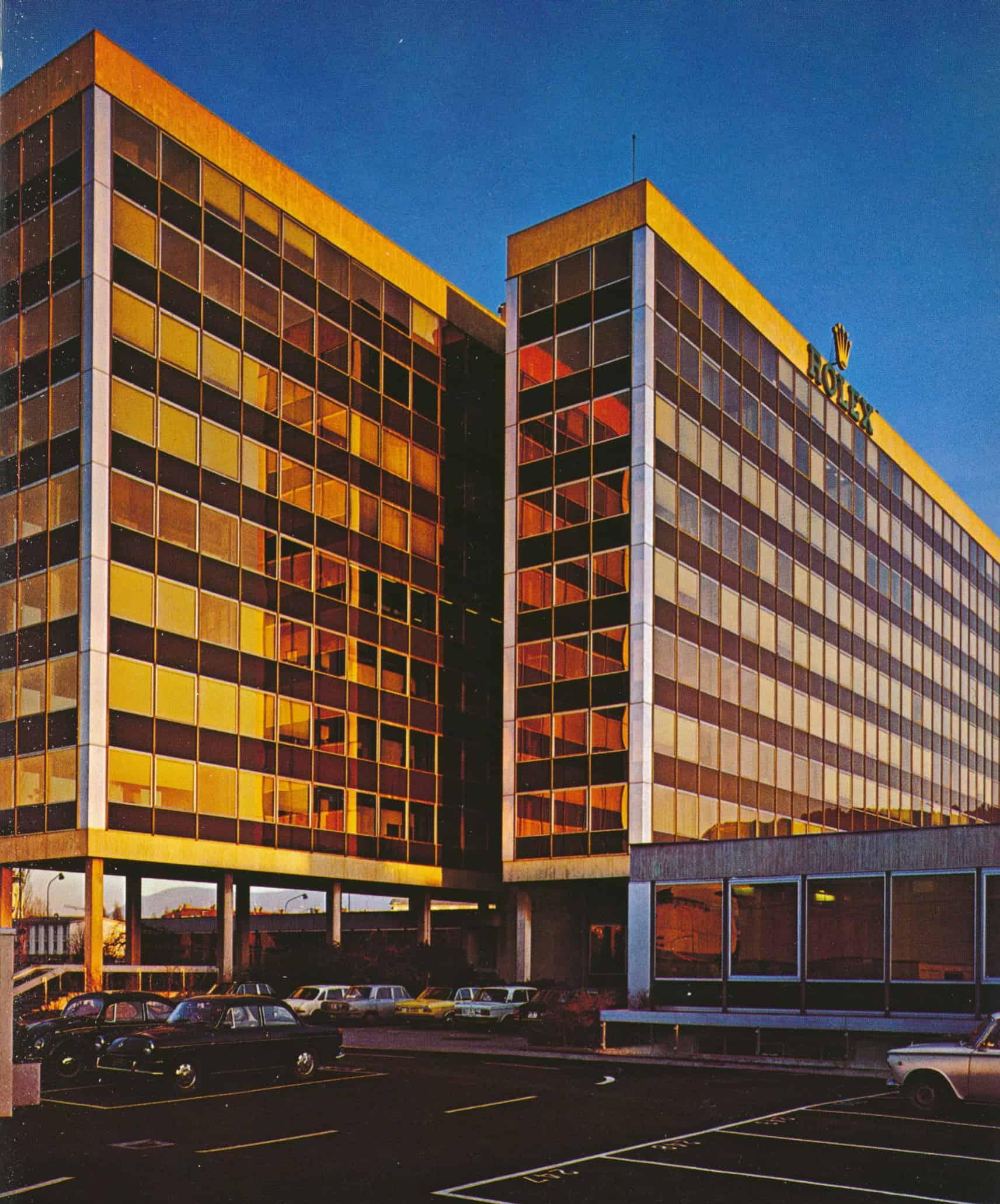Genfer Rolex Firmensitz im Jahr 1972