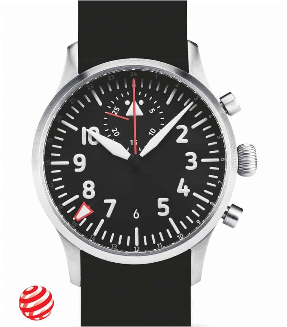 STOWA Flieger VERUS GMT Chronograph Red Dot 2021