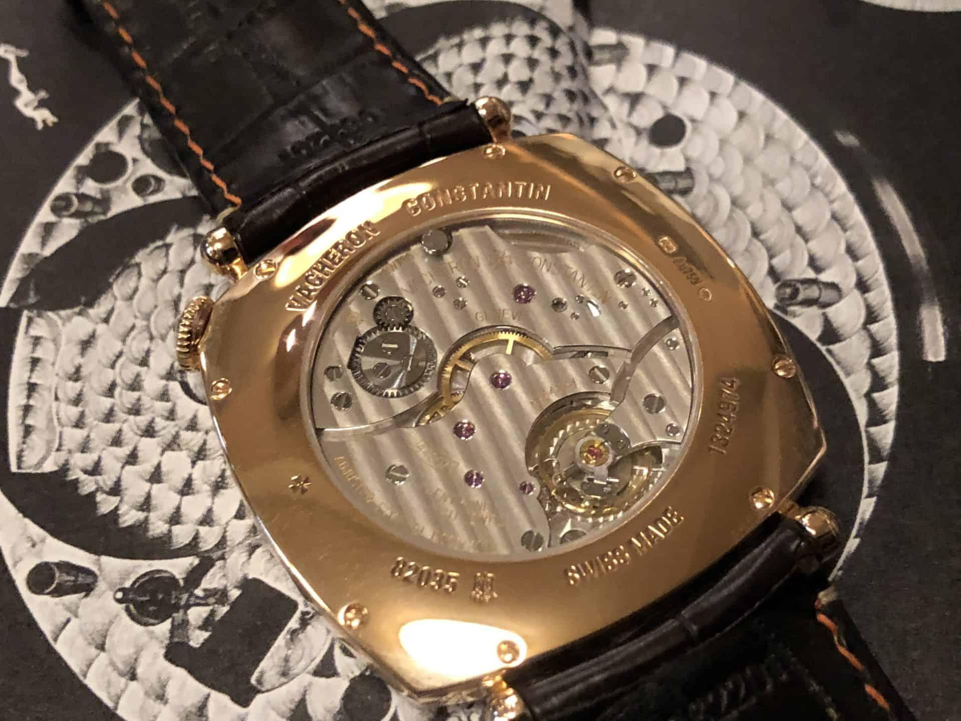 Blick auf das Uhrwerk der Vacheron Constantin American 1921 der Version 2009