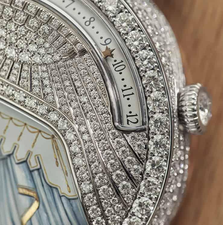 Van Cleef Arpels Lady Arpels Ballerine Musicale Diamant Clement Rousset 2067201 Stundenindikation